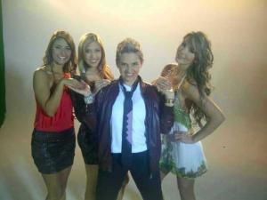 """Las """"Mujeres W"""": De izquierda a derecha: Rosario Gómez, Isabel Salazar, Camila Chaín, y Lorena."""